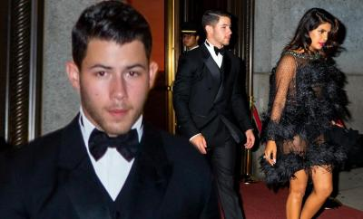 Nick Jonas and Priyanka Chopra step out in style for Joe?s Bond-themed 30th birthday party in New York (Photos)