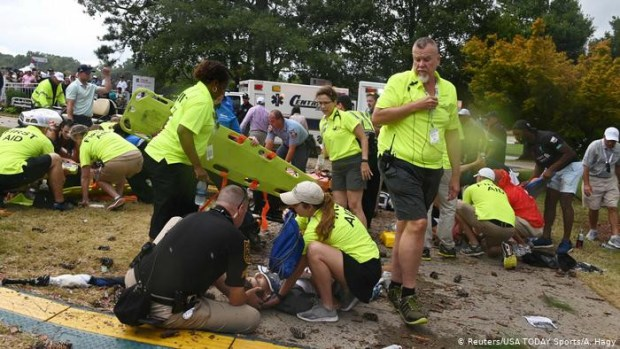 Multiple people struck and injured by lightning at PGA tour championship in Atlanta (photos)