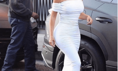 Kim Kardashian shares sweet photo of her husband Kanye West checking her out