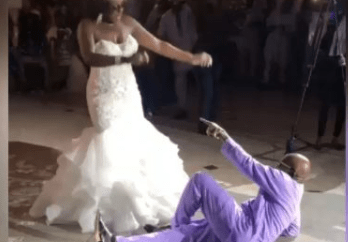 Nigerian dad wins the heart of many with his dance moves at his daughter