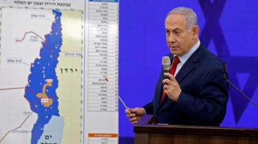 Israeli Prime Minster Benjamin Netanyahu speaks during his announcement on September 10,