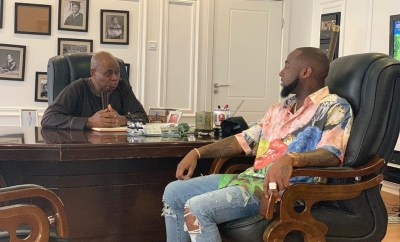 10 years ago, this conversation would have been about my bad result- Davido shares photo from a meeting with his billionaire dad