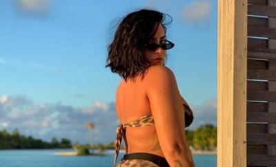 """""""Tired of being ashamed of my body"""" Demi Lovato says as she shares unedited bikini photo with her cellulite on display"""