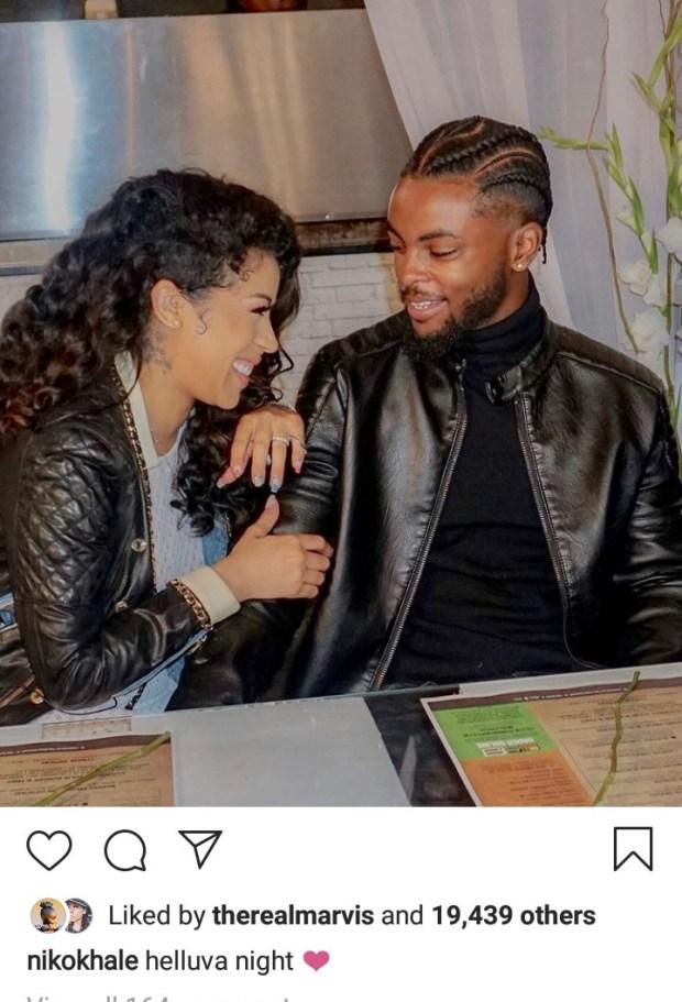 Keyshia Cole and boyfriend Niko Khale enjoy date night one month after welcoming son