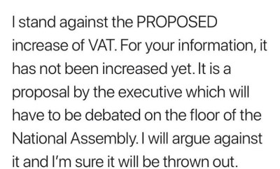 """I will fight it with all I?ve got"" lawmaker Akin Alabi assures Nigerians the proposed increase of VAT will be ""thrown out"""