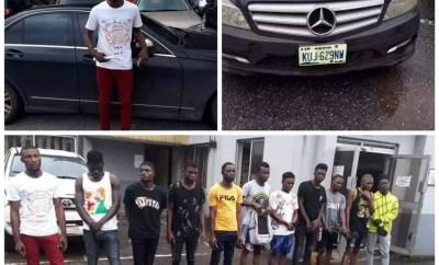Photos: EFCC arrests 11 suspected Internet fraudsters in Sapele
