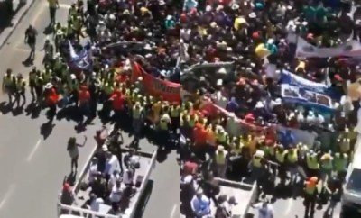 South Africans engage in peaceful demonstration to beg Nigerians for forgiveness over xenophobic attacks (video)