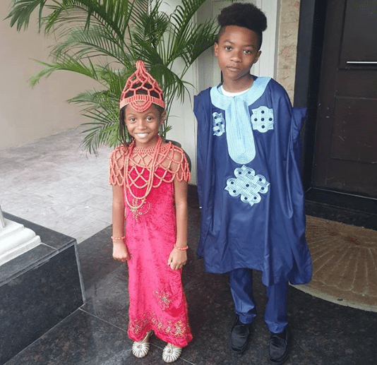 Celebrity kids pictured rocking traditional attires for their school