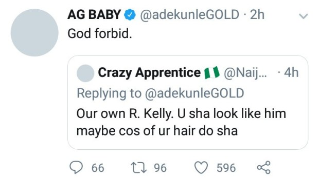 """Adekunle Gold responds to claims he is """"our own R.Kelly"""""""