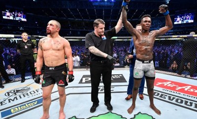 Photos/Video:  Nigerian boxer, Israel Adesanya, emerges UFC Middleweight Champ