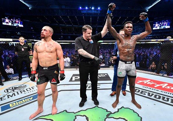 Photos/Video:  Nigerian boxer, Israel Adesanya, emerges UFC Middleweight Champ