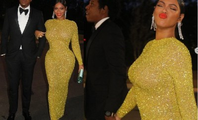 Beyonce poses with her husband Jay-Z at the opening of Tyler Perry Studios in Atlanta (Photos)