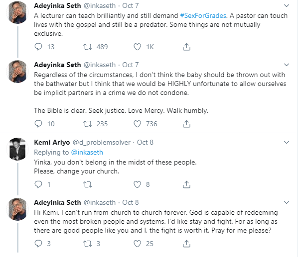 COZA members angry over #SexForGrades documentary are hypocrites- Church member writes