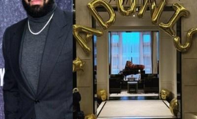 Drake celebrates his son