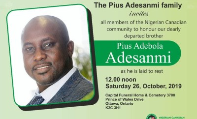 Pius Adesanmi, who died in Ethiopian plane crash, to be laid to rest today October 26th