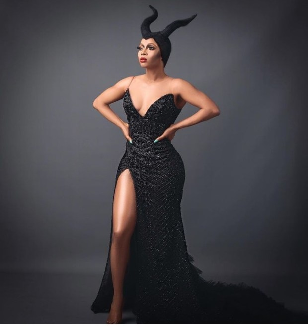Toke Makinwa dresses up as Maleficent for Halloween (photos)