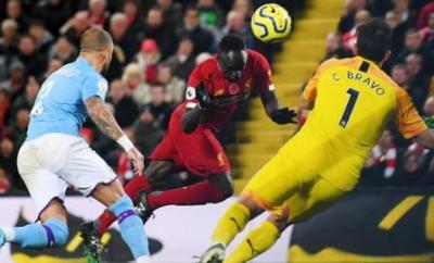 Sadio Mane goal v Manchester City
