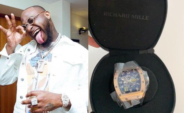 Davido buys a ?119K (N55m) Richard Mille watch