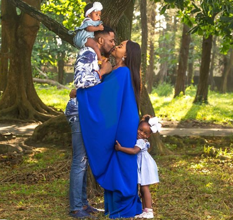Adorable photos of media personality,  Ebuka Obi-Uchendu with his wife and children