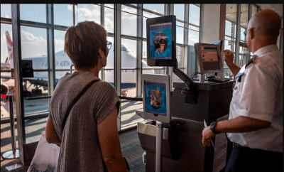US homeland security to force all travelers to undergo face scans when leaving or entering the United States