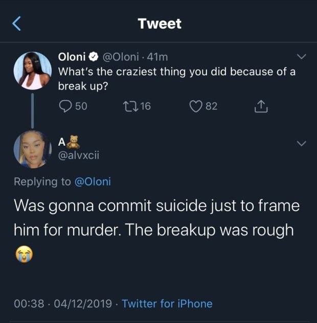 Woman reveals she tried to commit suicide to frame her boyfriend for murder because he broke up with her