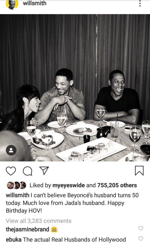 Will Smith sends cheeky birthday message to Jay-Z as he turns 50