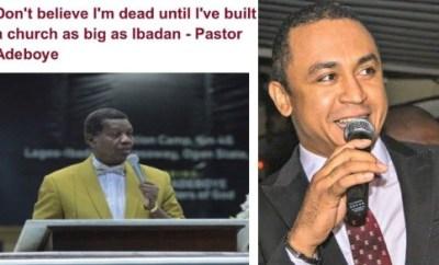 We need factories the size of Ibadan NOT churches, - DaddyFreeze replies Pastor Adeboye