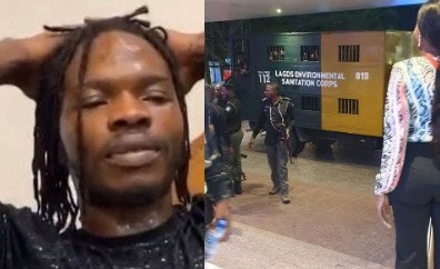 Twitter users react after alleged Naira Marley fans aka Marlians were picked up by the police for scaling fence and bypassing security at his concert (video)