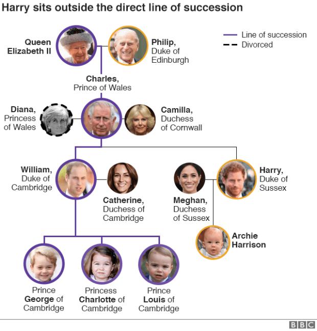Royal Family tree graphic