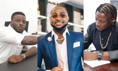 Nigerians react to Davido not writing his hit song