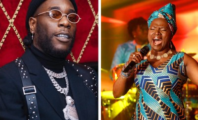 See the moment Legendary singer Angelique Kidjo dedicated Grammy award to Burna Boy after beating him to it