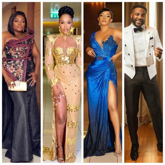 Toke Makinwa, Uti Nwachukwu, Ebuka, Adesua and Banky W, Sola Sobowale, others at the 2020 AMVCAs