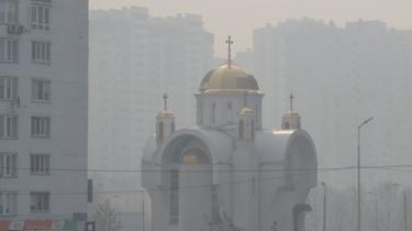 Kyiv shrouded in smog, 17 Apr 20