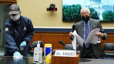Dr Fauci testified to the congressional committee in person
