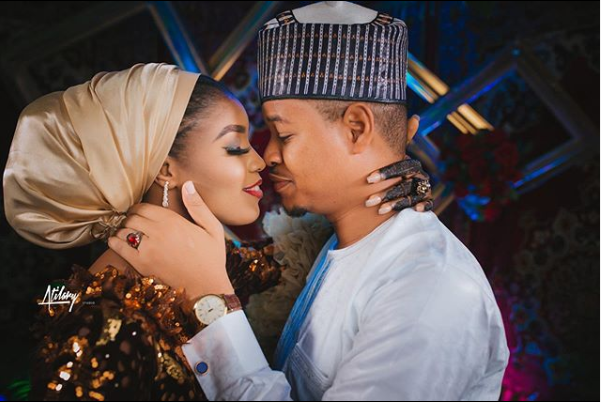 If I?m doing it again, it has to be you ? MC Tagwaye pens down love post to Buhari aide?s daughter after their wedding  (photos)