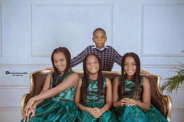 Mum celebrates her quadruplets by sharing new photos of them as they turn 10