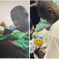 Davido's PA, Aloma DMW, welcomes a baby boy with his partner (Photos)