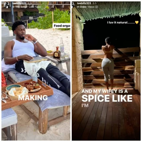 Teebillz goes on a date with a mystery lady, shares highlights of their time on his instastory (video)