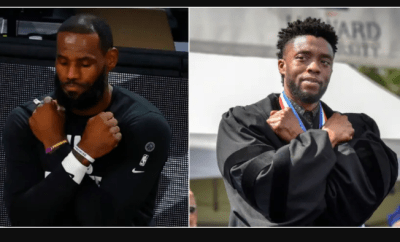 LeBron James pays tribute to Chadwick Boseman by doing the Wakanda Forever salute before LA Lakers playoff game (Photos)