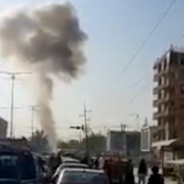 Smoke from a blast is seen in Kabul, Afghanistan September 9, 2020