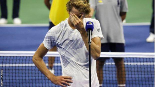 Alexander Zverev makes emotional runner-up speech