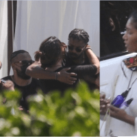 Michael B Jordan And Black Panther Co-Stars Join Chadwick Boseman's Wife And Family For His Memorial in Malibu [Photos]
