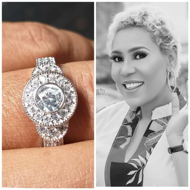 Actress Shan George gets engaged....see photo of her stunning ring