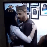 #BBNaija: Moment Nengi curved Ozo when he tried kissing her after he was evicted (VIDEO)