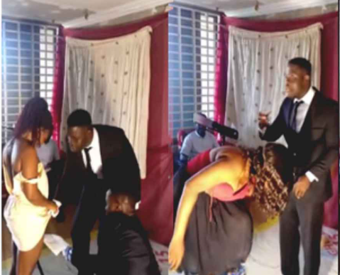 Pastor asks female members to take off their panties and shaves their pubic hair during church program (video)