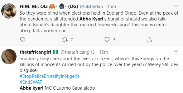 Nigerians blast FCTA for banning #EndSARS protests in Abuja