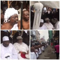 Ritual Rites Held At Isale Eko To Welcome The Oba of Lagos And His Staff of Office To The Palace [Photos/Videos]