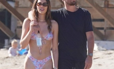 Scott Disick, 37, hits the beach with 19-year-old Amelia Hamlin