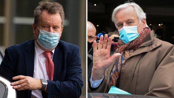 UK head negotiator Lord Frost and EU chief negotiator Michel Barnier