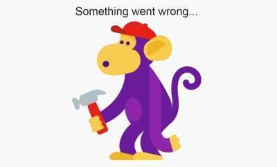 A monkey holding a hammer is seen in this illustration from YouTube's